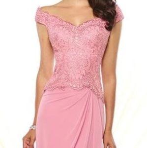 Mon Cheri Dresses - Stunning Montage By Mon Cherie Chiffon Lace Gown